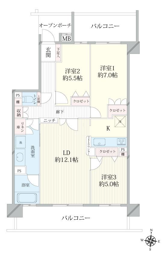 ザ・サザンクロス 5階 3LDK